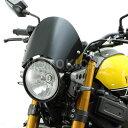フロントバイザー XSR900 YAMAHA ハリケーン (HURRICANE) HA6109 CAFEスタイル ブラック