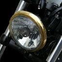 【あす楽対応】キジマ (KIJIMA) HD-01554 ヘッドライトベゼル 真鍮 BRASS PRODUCTS 5-3/4インチ用 ハーレー スポーツスター ダイナ ソフテイル
