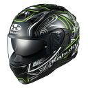 【在庫あり】OGKカブト カムイ3 KAMUI3 ジャグ JAG ブラックグリーン Mサイズ フルフェイスヘルメット