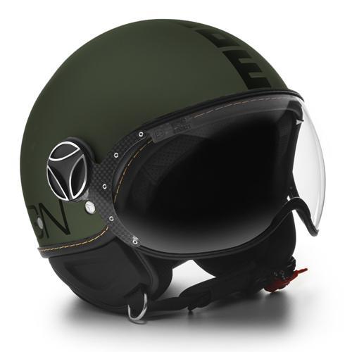 MOMO DESIGN FGTR EVO(モモデザイン FGTR EVO)マットグリーン×マットブラック ジェット ヘルメット バイク 【送料無料】