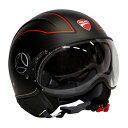 【モモデザイン/MOMO DESIGN】 AVIO PRO JET SET(アヴィオ プロ)マットブラック Ducati ヘルメット バイク 【送料無料】