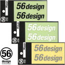 ポイント2倍【56デザイン/56design】56design ロゴステッカー 切り文字タイプ 横ロゴ 80mm バイク【P2】