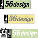 ポイント2倍【56デザイン/56design】56design ロゴステッカー 切り文字タイプ 横ロゴ 180mm バイク【P2】