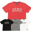 ポイント2倍【56デザイン/56design】LIFE WITH MOTO T-SHIRT メンズ レディース 半袖 Tシャツ クルーネック【P2】