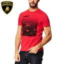 ヘルメット バイクヘルメット バイクランボルギーニ Lamborghini ランボCOUNTACH Tシャツ レッド メンズ MEN'S COUNTACH T-SHIRT スーパーカー【メール便可】【父の日 プレゼント ギフト】