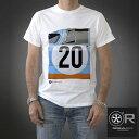 【オリジナル レース/Original Race】ポルシェ917 Tシャツ PTU-917 20-W ホワイト グレー 半袖 メンズ スティーブ・マックイーン 栄光のル・マン GULF グッズ【メール便可】【プレゼント ギフト】