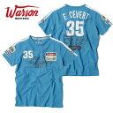 【ワーソンモータース/Warson Motors】 Cevert T-shirt セベール Tシャツ メンズ ブルー Tシャツ 半袖 elf エルフ チーム ティレル F1 ドライバー【メール便可】