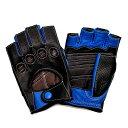 【送料無料】カカザン(CACAZAN)ドライビンググローブ DDR-071R ブラック × ブルー | メンズ グローブ バイクグローブ バイク 手袋 レザー ...