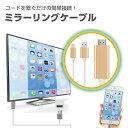 【即納】ミラーリングケーブル 【デザリング不要】ミラーリング スマホ iphone ケーブル ミラーリング ケーブル【iPhone画面をTVに映すケーブルです!】 1080P iphone HDMI テレビ出力 airplay