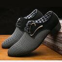 送料無料 カジュアルシューズ ポインテッドトゥ レースアップ 紳士靴 メンズ 靴 黒 おしゃれ かっこいい 高級感 上品 大人男子