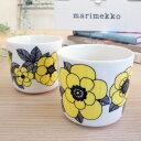 マリメッコ / marimekko コーヒーカップ2個セット(ラテマグ) KESTIT(ケスティト)/YELLOW 北欧