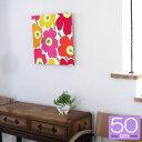 ファブリックパネル マリメッコ/marimekko UNIKKO/MULTI PINK 500×500mm 北欧