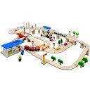 【送料無料】木のおもちゃプラントイ PlanCityロード&レールシステム110ピース(3歳から)