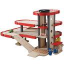 【送料無料】木のおもちゃプラントイ PlanCityパーキングガレージ(3歳〜)
