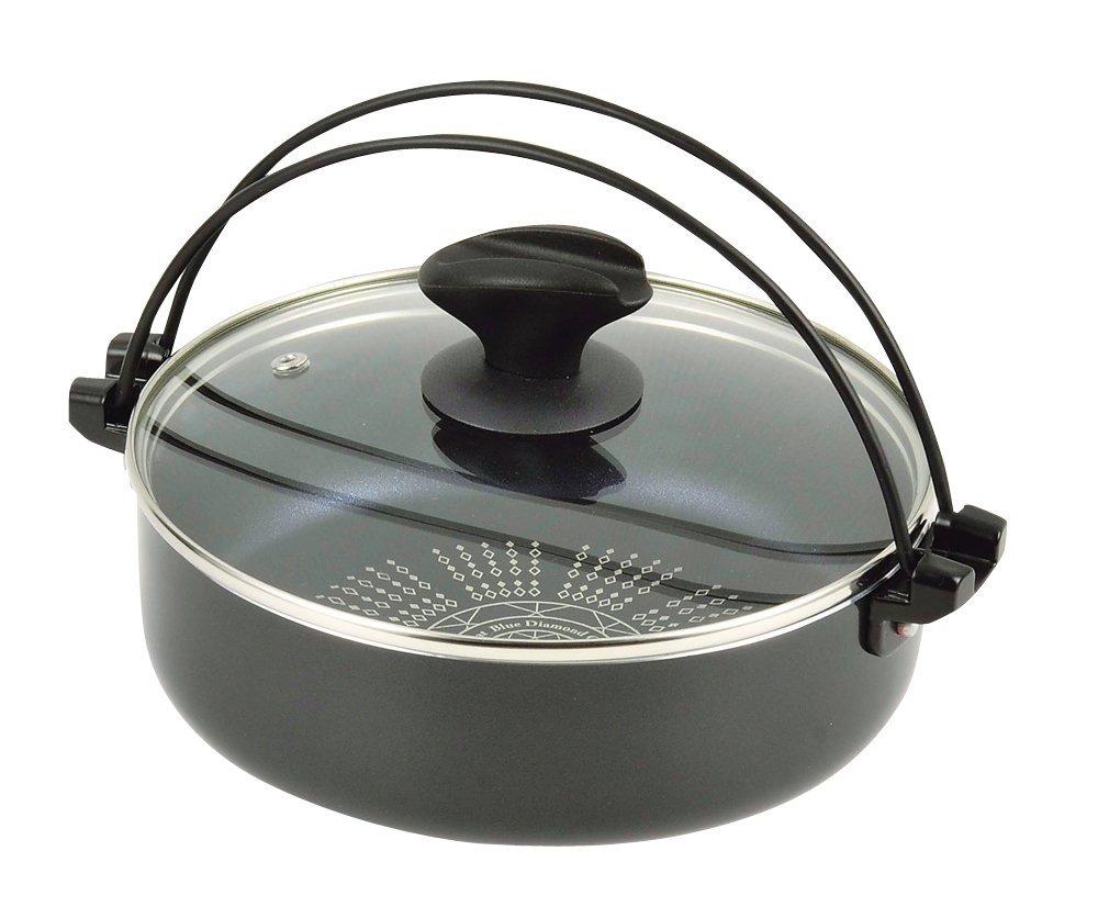 すき焼き鍋 28cm IH対応 ガラス蓋付 HB-3258