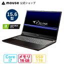 G-Tune P5-MA ゲーミングPC 15.6型 Core i7-10750H 16GB メモリ 1TB M.2 SSD(NVMe) GeForce GTX1650 ノートパソコン 新品 マウスコンピューター BTO【GN】※2021年5月16日より後継モデルに変更