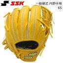 野球 硬式グローブ 一般用 内野手 右投げ用 エスエスケイ SSK プロブレイン ターメリックタン サイズ6S