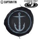 б┌╦▄╞№е▌едеєе╚еве├е╫е╟б╝б█/CAPTAIN FIN енеуе╫е╞еєе╒егеє CHANGE MAT BLACK ╦╔┐хдк├х┬╪дие▐е├е╚бїежеие├е╚е╨е├е░ двд╣│┌