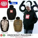 スノーボード プルオーバー パーカー 16-17 686(シックスエイトシックス) Knockout Bonded Fleece Pullover Hoody ≪16-17686_wr≫ 撥水パーカー