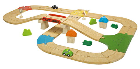 6607 ロードウェイ PLAN TOYS プラントイ 知育玩具 木製 木のおもちゃ 出産祝い 誕生日 赤ちゃん 子供