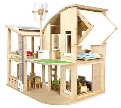 7156 家具付きグリーンドールハウス PLAN TOYS プラントイ 知育玩具 木製 木のおもちゃ 出産祝い 誕生日 赤ちゃん 子供