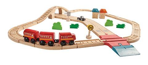 6608 ロード&レール PLAN TOYS プラントイ 知育玩具 木製 木のおもちゃ 出産祝い 誕生日 赤ちゃん 子供
