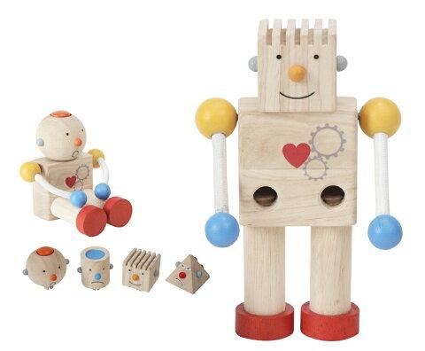 PLAN TOYS プラントイ 5183 ビルドロボット 知育玩具 木製 木のおもちゃ 出産祝い 誕生日 赤ちゃん 子供