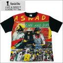 SPECIAL ONE スペシャルワン Tシャツ LIVE&DIRECT LOOSE FIT Tee ブラック 黒 BLACK ビッグシルエット ASWAD アスワド 送料無料