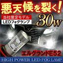エルグランド E52 後期 フォグランプ H11 30W フォグランプ LED OSRAM バッテリーカプラーオン 配線不要 バルブ ライト 電球 ヘッドライト パーツ カスタム