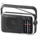 【送料無料】オーム電機 AM/FMポータブルラジオ(乾電池・家庭用両電源対応/ブラック) RAD-T450N