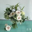 ブーケ 造花 クラッチブーケ ナチュラル カップ咲きローズ ウェディング 結婚式 海外挙式 前撮り【送料無料】B_0163