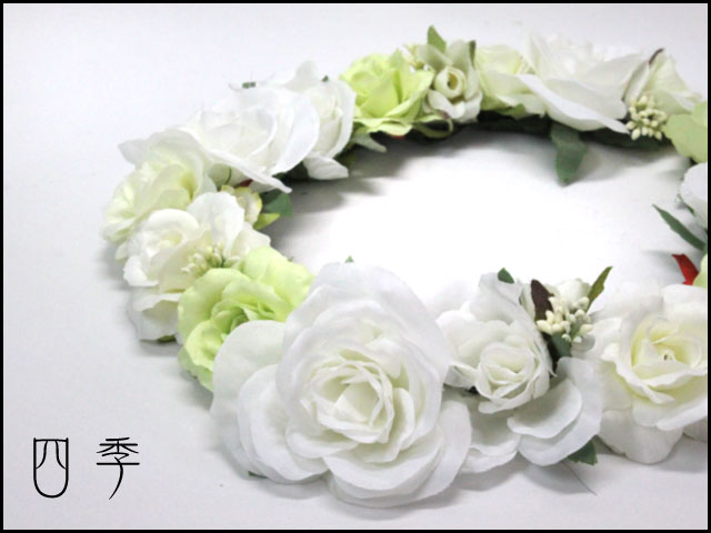 花かんむり*花冠*ヘッドドレス*ホワイト*ヘン...の紹介画像2