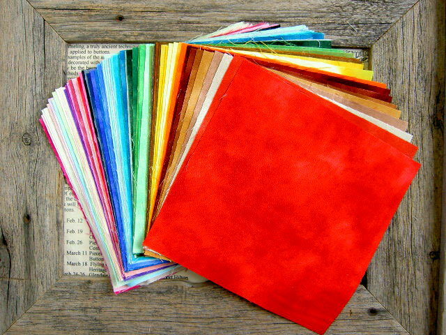 Patchwork ☆ spotty ☆ 65 color clear cut cross set dye palette dye 15 × 15 cm cut