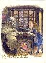 """イギリス製の超・超レアアイテム!【イギリス製】不思議の国のアリス ポストカード """"シープショップ"""