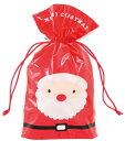 【クリスマス】クリスマスハッピーサンタ&スノーマン巾着バッグ−4★2枚セット(裏と表でデザイン違い!)