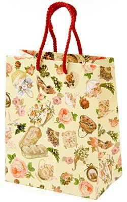 【ラッピング用品】ビクトリア ペーパーバッグ 手提げ紙袋 コート紙 (Sサイズ)...:mrsliving:10002962