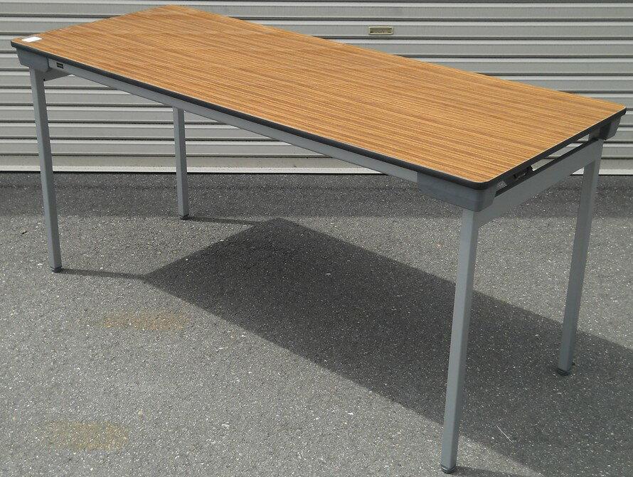 わけあり アウトレット(訳あり)折りたたみテーブルLH-1560型 天板:チーク色【送料無料】 【トレンディー】