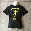 【new新入荷】HASBY ハンドボールTシャツ ドライシルキー hang in there ブラック 黒 basketball handb...