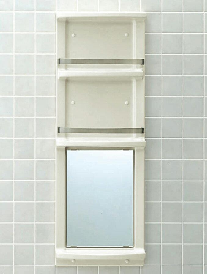 24時間限定ポイント2倍♪12月1日10時〜【送料無料】LIXIL INAX 浴室収納棚鏡付(平付)品番【YR-412G】