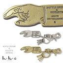 楽天エムズジーンズ【Hawk Company ホークカンパニー】 真鍮製キーリング (シルバー/ゴールド) 栓抜き チャーム キーホルダー ボトルオープナー 小物 グッズ アクセサリー プレゼント メンズ men's レディース lady's 7529-01