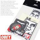【OBEY オベイ】 ステッカー セット シール ストリート スケボー グラフィック メンズ men 039 s 正規品 インポート ブランド 海外ブランド