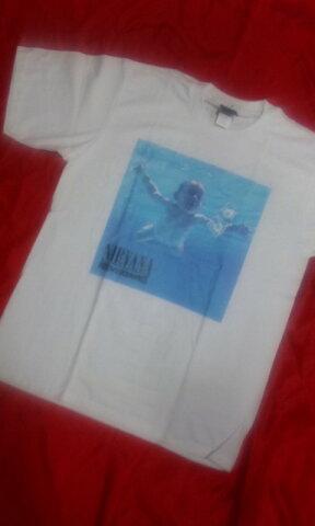 ロックTシャツ ニルバーナ NIRVANA NEVER MIND M L /バンT/バンドT/KERA系/白/ニルヴァーナ