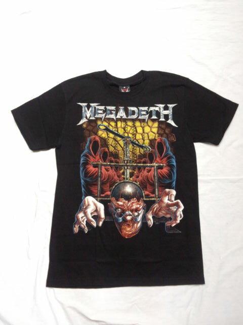 ロックTシャツ MEGADETH メガデス S/M/L/XL /バンT/バンドT/ハ−ドロック/HM/HR/ヘビ−メタル