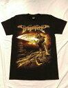 ロックTシャツ DragonForce(ドラゴンフォース) S M L XL/黒/ブラック/バンT/バンドTシャツ/ハードロック/HM/HR