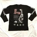 ロックTシャツ LED ZEPPELIN 天国への階段 長袖 M L XL 黒/バンドTシャツ/ロンT/ブラック