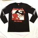 ロックTシャツ METALLICA(メタリカ) KILL 'eM ALL  長袖 M L XL 黒/バンドTシャツ/ロンT/ブラック/ヘビーメタル