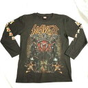 ロックTシャツ SLAYER(スレイヤー) 長袖 M L XL 黒/バンドTシャツ/ロンT/ブラック/ヘビーメタル