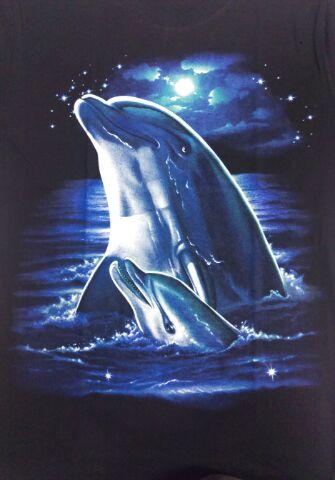 アニマルTシャツ イルカ Dolphin 黒 ...の紹介画像2
