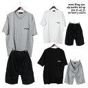 ≪クリアランスSALE≫ 大きいサイズメンズ 半袖Tシャツセットアップ キングサイズ ミニ裏毛製品洗い Vネック ポケ付「838-501」