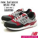 限定モデル【new balance】ニューバランス M530 PSB (幅:D) GRAY/RED ランニング シューズ Running Style ユニセックス・レディースサイズ